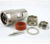 N Male (Plug) Connector For RG8, RG11, RG9 Cable, Clamp/Solder, Nickel Plated Brass Body, Length 1.8 In