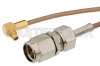 SMA Male to MMCX Plug Right Angle Cable 24 Inch Length Using RG178 Coax -- PE34777-24