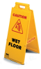 2x4 Safety Floor Signs -