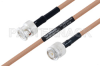 MIL-DTL-17 BNC Male to TNC Male Cable 48 Inch Length Using M17/128-RG400 Coax -- PE3M0063-48 -Image