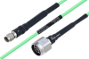 Temperature Conditioned SMA Male to N Male Low Loss Cable 100 cm Length Using PE-P160LL Coax -- PE3M0186-100CM -- View Larger Image