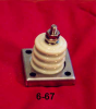 Porcelain Corrugated Base Insulator -- 6-67 - Image