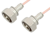 7/16 DIN Male to 7/16 DIN Male Cable 48 Inch Length Using RG402 Coax -- PE36142-48 -Image