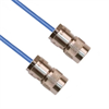TRS SUBMINIATURE THREADED SOLDER/CLAMP PLUG TO TRS THREADED SOLDER/CLAMP PLUG M17/176-00002 .129 O.D. CABLE -- MP-2098-12 -Image