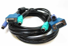 6ft 3-in-1 Universal HD15 VGA + PS/2 KVM Cable -- CS10-06