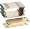 ALUMINUM ENCLOSURE, 2 PLATES, 8 SCREWS,GOLD ANODIZED, 1.18 H X 2.5 W X 1.57 L -- 70020227