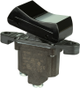 TP Series Rocker Switch, 1 pole, 2 position, Screw terminal, Above Panel Mounting -- 1TP7-2-BK - Image