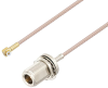 Snap-On MMBX Plug Right Angle to N Female Bulkhead Cable 6 Inch Length Using RG316 Coax -- PE3C4024-6 -Image