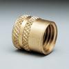 Cap, finger tight, brass, 1/4