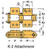 Double Pitch Conveyor Lambda Chain Attachment -- C2040-LAMBDA-K-2 - Image