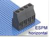 High Current Fixed Terminal Block -- ESPM Horizontal Series -- View Larger Image