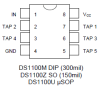 5-Tap Economy Timing Element (Delay Line) -- DS1100 - Image