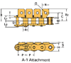 Single Pitch Conveyor Lambda Chain Attachment -- RSC35-LAMBDA-A-1 - Image