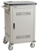 10-Device Chromebook and Laptop Cart - Single Frame with Medium Slots and Hinged Door -- UCCSM-10-10H
