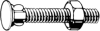 Non-Hexagon Flat Countersunk Wing Neck Bolts with Nut -- View Larger Image