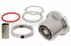 7/16 DIN Female Bulkhead Mount Connector Crimp/Solder Attachment for PE-C240, RG8X, 0.240 inch, LMR-240, LMR-240-DB, LMR-240-UF, B7808A -- PE44549 -Image