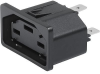 IEC Socket-Outlet 400 VDC, Snap-in Mounting, Front Side, Quick-connect or PCB Terminals -- GS21 -- View Larger Image