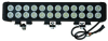 High Intensity LED Light Bar - 24, 10-Watt LEDs - Extreme Environment - 9-46VDC - 20640 Lumen