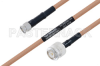MIL-DTL-17 SMA Male to TNC Male Cable 36 Inch Length Using M17/128-RG400 Coax -- PE3M0082-36 -Image