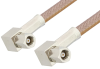 SMC Plug Right Angle to SMC Plug Right Angle Cable 72 Inch Length Using RG400 Coax, RoHS -- PE34459LF-72 -- View Larger Image