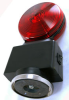 Flashing hazard lights with magnetic base -Red/Red Lens - Wide Load Towing Lights -- HDFL-RR