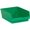 "11 5/8"" x 8 3/8"" x 4"" Green - Plastic Shelf Bin Boxes -- BINPS104G -- View Larger Image"
