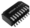 Half-pitch Piano DIP Switch -- A6HR Series - Image