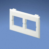 Surface Raceway : Surface Mount Boxes, Faceplates, & Receptacles : Faceplates : Use with Panduit Mini-Com Inserts -- T70BH2AW