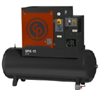 Quiet Rotary Screw (QRS) Series Tank Mount Belt Drive Rotary Screw Air Compressor -- QRS-10HP