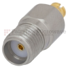 SMA Female (Jack) to SMP Female (Jack) Adapter, Passivated Stainless Steel Body, 1.3 VSWR -- FMAD1009 - Image