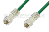 75 Ohm F Male to 75 Ohm F Male Cable 48 Inch Length Using 75 Ohm PE-B159-GR Green Coax -- PE38136/GR-48 -Image