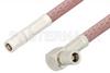 SMB Plug to SMB Plug Right Angle Cable 60 Inch Length Using RG142 Coax, RoHS -- PE33668LF-60 -Image