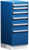 """L Cabinet with Partitions, with Base (18""""W x 27""""D x 44""""H) -- L3ABG-4029D -- View Larger Image"""