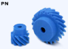 63.64mm PD Plastic Screw Gears -- PN3-15R