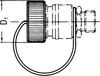 10,000 PSI Industry Standard Plastic Dust Cap -Image