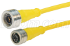 Brad® Ultra-Lock® M12 Cable 5 pole A code IP69K rated Male to Female 22AWG PVC YLW, 1.0m -- TRG823-C2Y-1M -Image