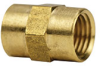 Fisnar 560634 Brass Coupling Connector 0.25 in NPT Female -- 560634 -Image