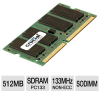 Crucial 512MB PC133 SDRAM 133MHz SODIMM Memory -- CT64M64S4W75