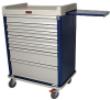 Standard Line Wide Seven Drawer Anesthesia Cart Key Loc.. -- SL7KW -- View Larger Image
