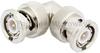 RA BNC Male (Plug) to BNC Male (Plug) Adapter, Nickel Plated Brass Body, High Temp -- FMAD1150