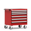 R Mobile Cabinet, with Partitions, 6 Drawers (30