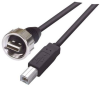 USB Cable, Shielded Waterproof Type A Male - Standard Type B Male, 5.0m -- MUS2A00013-5M -Image