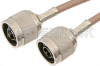 N Male to N Male Cable 12 Inch Length Using RG141 Coax -- PE36589-12 -Image