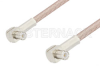 MCX Plug Right Angle to MCX Plug Right Angle Cable 48 Inch Length Using RG316 Coax -- PE3306-48 -Image