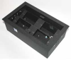 Furniture Mount Box,4 Gang,Black -- 4LUW2 - Image