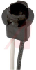 Lamp Holder; Miniature Wedge; 20 W; 28 V; Black Nylon (Housing); 6 in.; Lug -- 70214083