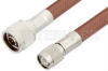 N Male to TNC Male Cable 48 Inch Length Using RG393 Coax -- PE3982-48 -Image