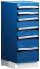 """L Cabinet with Partitions, with Base (18""""W x 27""""D x 44""""H) -- L3ABG-4031D -- View Larger Image"""