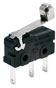 ZV Series, Subminiature Basic Switch, SPDT, 6(2)A 250 Vac, 6 A, Roller Lever Actuator, Long Solder Termination -- ZV50E70F01