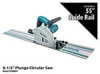 "SP6000J1 - 6-1/2"" Plunge Circular Saw with 55"" Guide Rail -- SP6000J1"
